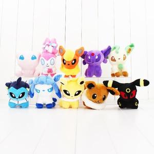 10cm Mew and Eevee Sylveon Jolteon Flareon Espeon Umbreon Leafeon Glacia cute plush dolls Hot Japanese Anime Figure doll toy