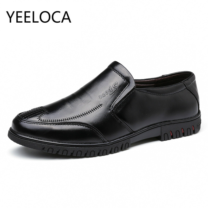 YEELOCA Oxfords Men Formal Wedding Shoes Luxury Men Business Dress Shoes Loafers Pointy Shoes Driving Moccasin Men Soft Shoes