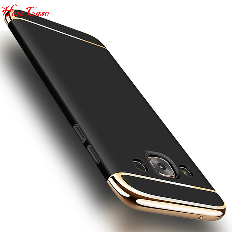 For Samsung Galaxy J7 2015 Case J700 Luxury 3 in 1 Case Gold Plating Case Cover For Samsung J7 2016 J710 J710F Back Cover Coque image