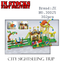 New My World City Tourism Minecraft Model Kit Action Anime Figures Building Blocks Bricks Fun Toys