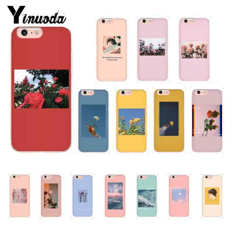 Yinuoda Great art prints blooming flowers Colorful Cute Phone Case for iPhone 8 7 6 6S Plus 5 5S SE XR X XS MAX 10 Coque Shell