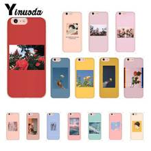 Yinuoda Great art prints blooming flowers Cute Phone Case for iPhone 8 7 6 6S Plus 5 5S SE XR X XS MAX 10 11 11pro 11promax
