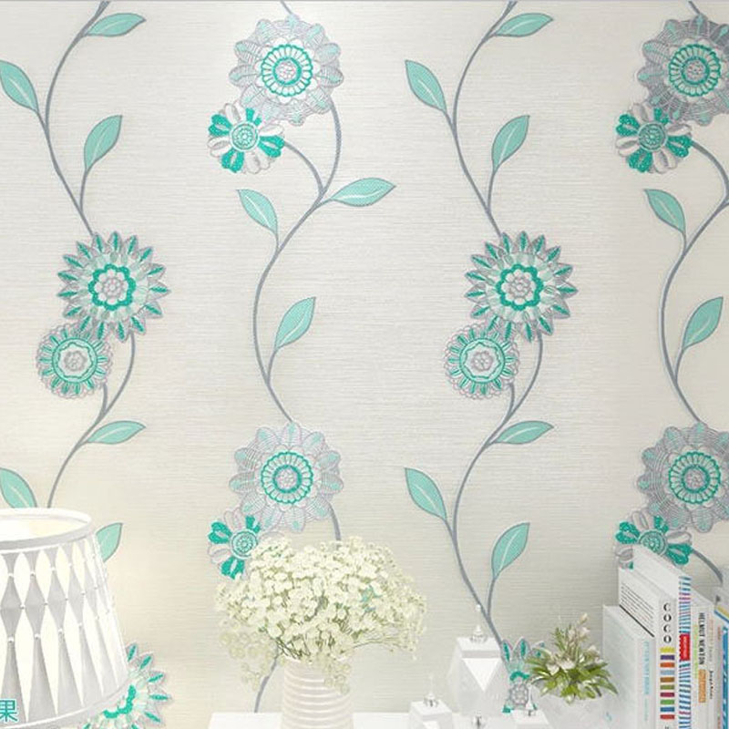 Wall Paper Design compare prices on modern floral wallpaper designs- online shopping