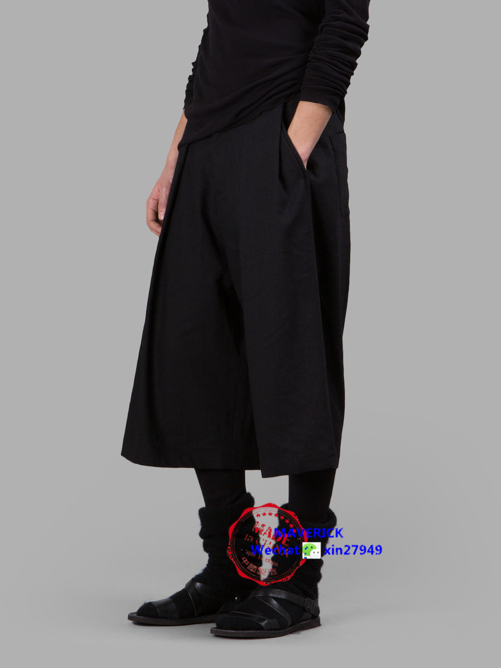27-42 Nouveau 2018 Hommes de vêtements coiffeur pantalon Large de jambe Européen et Américain marée lâche occasionnel pantalon plus taille chanteur costumes