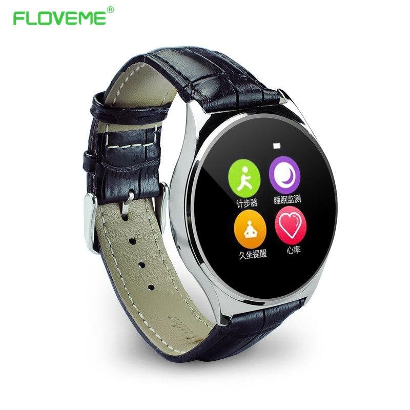 FLOVEME 9.8mm Bluetooth Smart Watch For Apple iPhone Android Smartphone NFC G-sensor Anti-lost Health Tracker Wrist Watches gt08 1 54 mtk6260a nfc bluetooth watch hd tft smart wrist strap