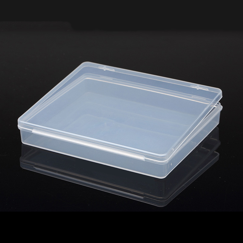 Transparent Lid Mini Flat Plastic Box For Storage Small Tools Parts Stones Toolbox Screw Component Jewelry Case Cards Container analog watch