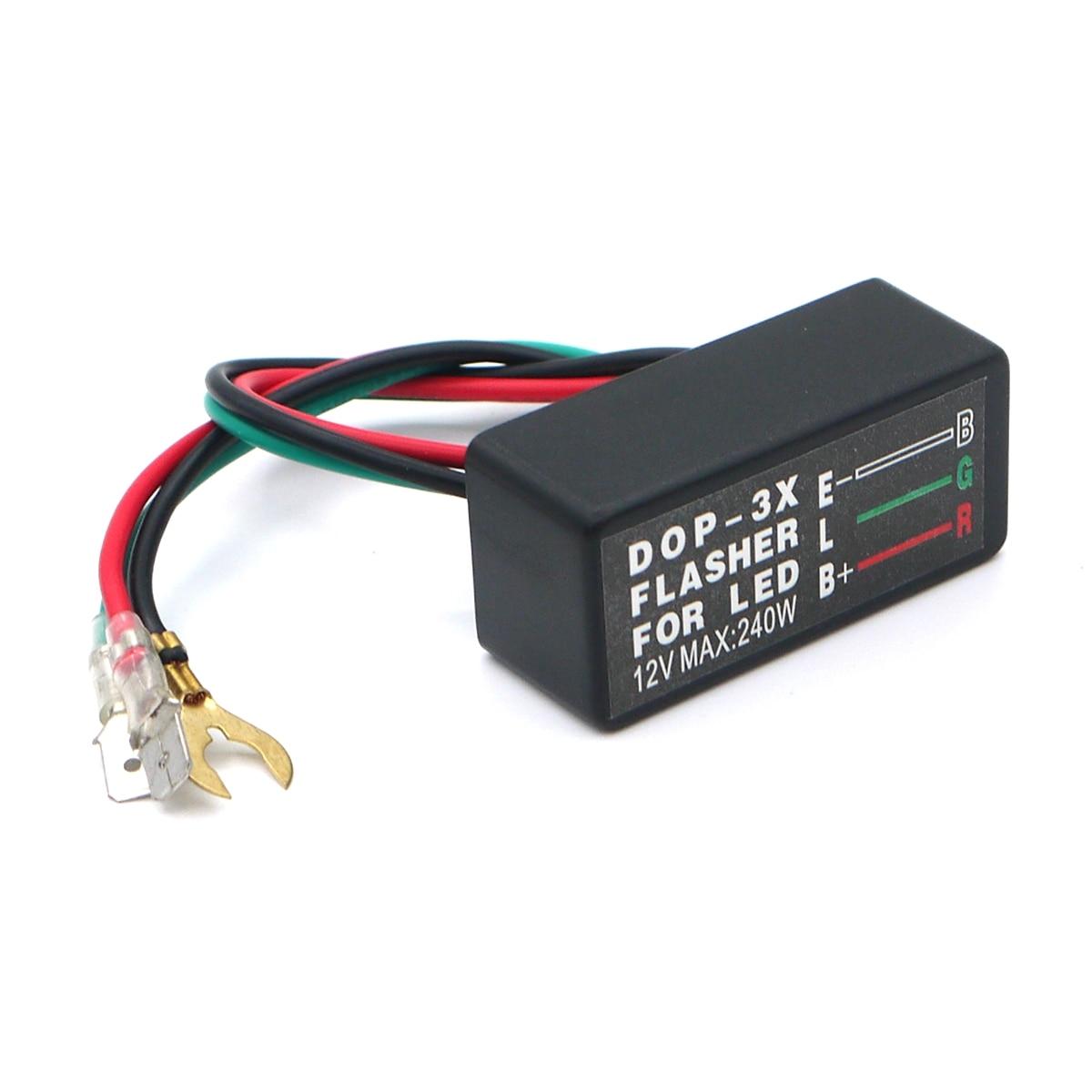 Eonstime Set Universal 10Led Motorcycle LED Turn Signal Light Indicator Light Amber Blinker Light Flasher Relay Black/Carbon