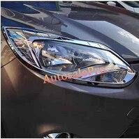 Chrome Front Head Light Lamp Headlight Cover Trim For Ford Focus 3 2012 2013|for ford focus|trim cover|light trim -