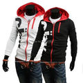 2015 NOVA Men Casual Zip Up Hoodie Com Capuz Brasão Jacket Camisola Outwear Tops