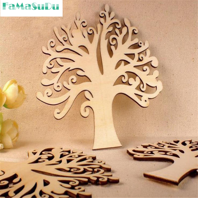 1 Piece Delicate Hollow Out Sky Tree Handicrafts Wooden Crafts Diy