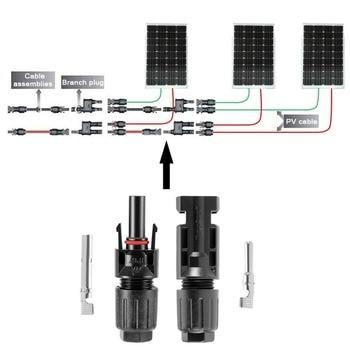 Conector Solar macho y hembra para Cable Solar, 20 pares, Conector de Panel Solar, secciones cruzadas, 2.5mm2 ~ 6.0mm2 IP67 2