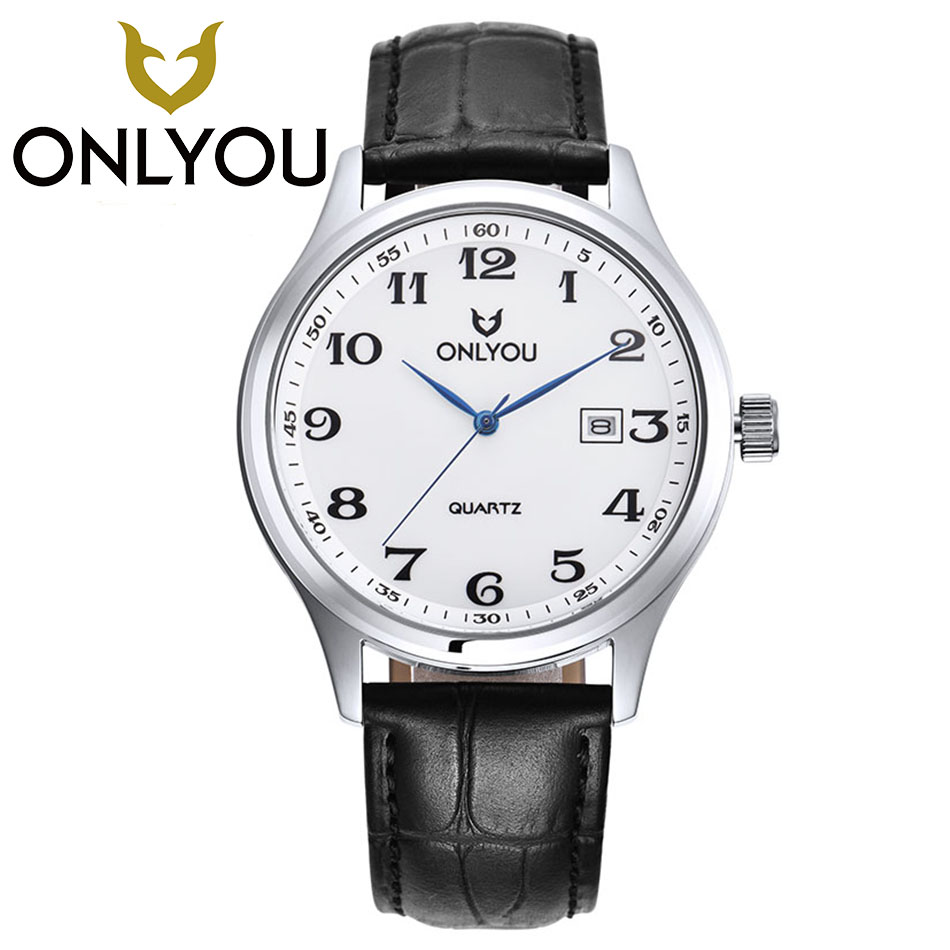 ONLYOU Lovers' Quartz Watches Luxury Men Women Fashion Casual Watch 50M Waterproof Simple Ultra-thin Design Wristwatches skmei lovers quartz watches luxury men women fashion casual watch 30m waterproof simple ultra thin design wristwatches 1181