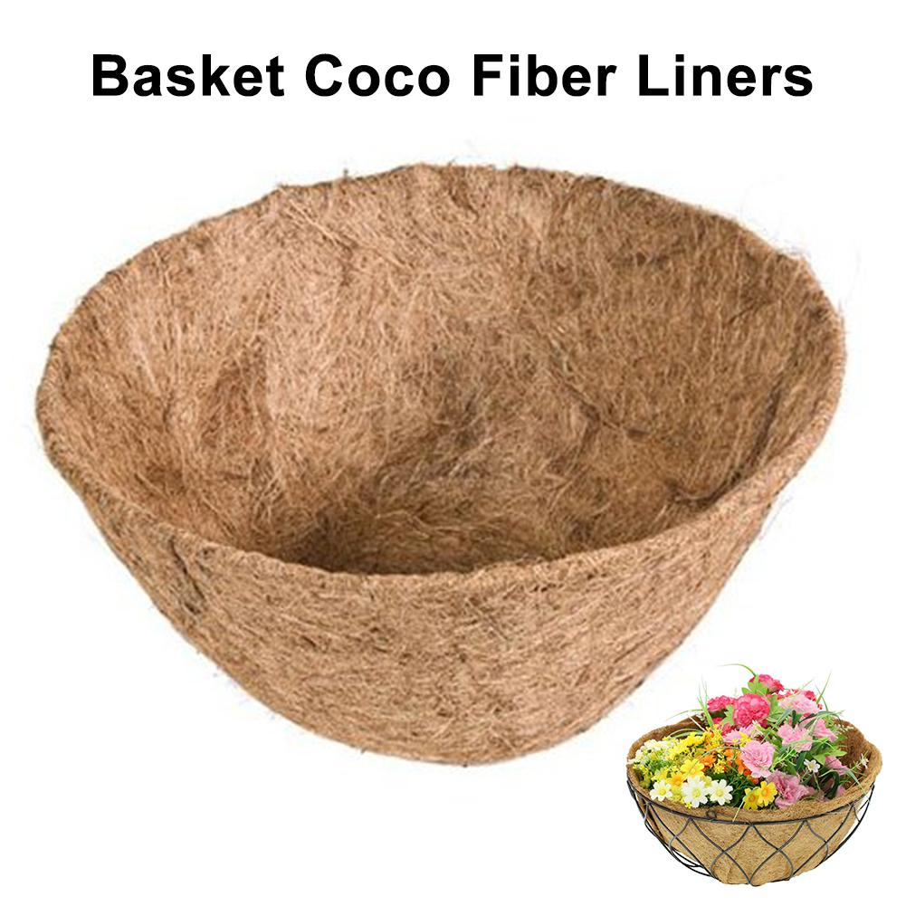 Fiber Replacement Liner for Plastic Flower Pots Orchid Flower Pots Balcony Planting Coconut Palm Wall Hanging Flower Pot 10inch