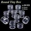 25x29MM Acrylic bottles with screw cap round boxes storage for DIY Nail Art Perfume Accessory Jewelry beads Crafts container