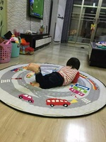 New Arrival Cartoon Cotton Storage Bag Round Rugs Large Canvas Rawling Mat Carpet Portable Canvas