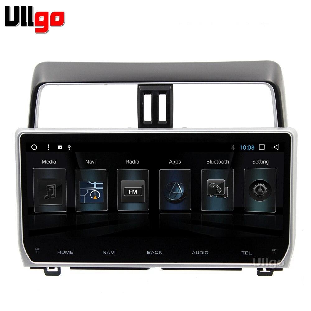 12.3 pouce Octa base Android 7.1 Voiture DVD GPS pour Toyota Prado 2018 Autoradio GPS Unité De Tête de Voiture avec BT RDS WIFI Miroir-Lien