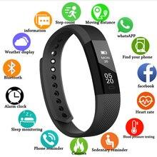 Smart Wristband Fitness Tracker Band Bluetooth Sleep Monitor Watch Sport Smart Bracelet for Ios Android Phone Pk Fit Bit Mi 2 стоимость