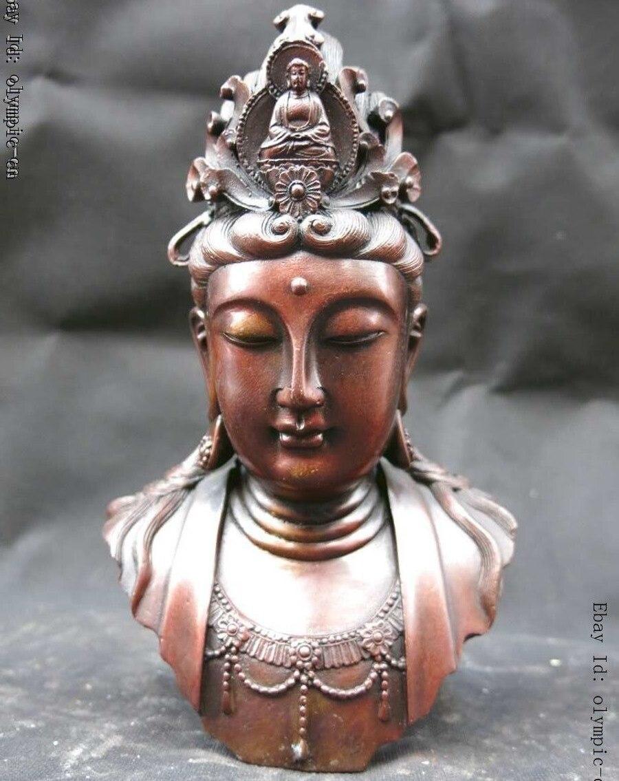 Statue de bouddha en cuivre rouge chinois | De 8