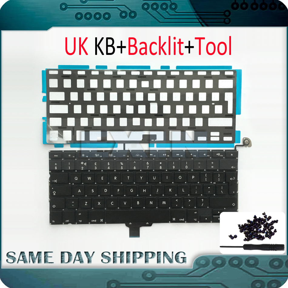 OEM NEW Laptop A1278 UK Keyboard for Macbook Pro 13