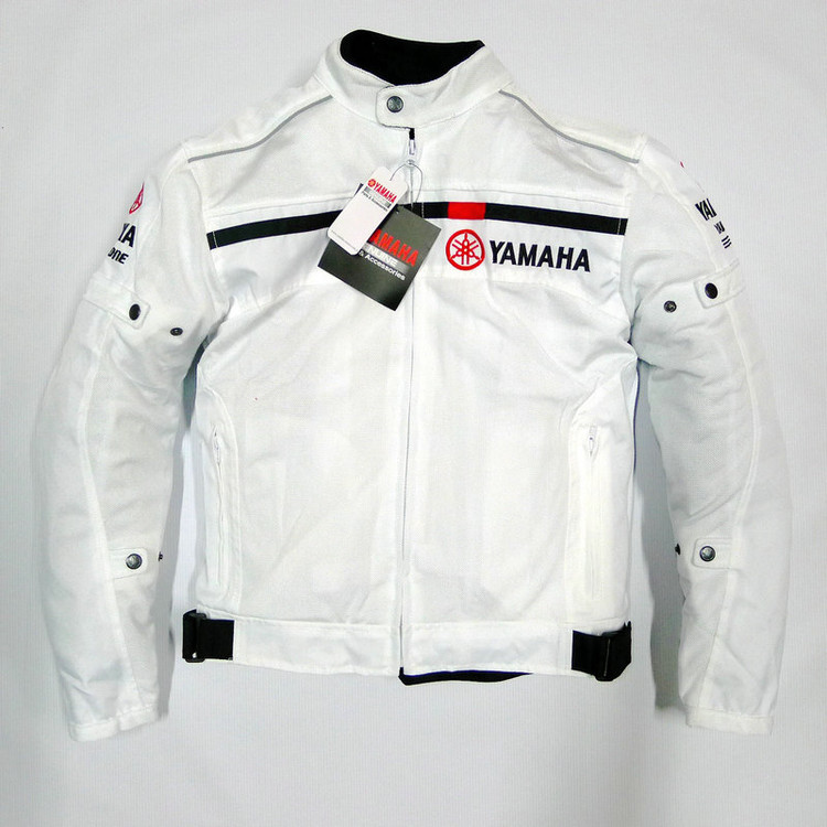 цена на 2017 Summer Motorcycle Mesh Jacket For YAMAHA Bike Racing Thermal Jackets Removable Liner Clothing White