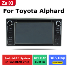 ZaiXi 2Din For Toyota Alphard 2002~2008 Car Android Radio Multimedia Player GPS Navigation IPS Screen HiFi WiFi BT