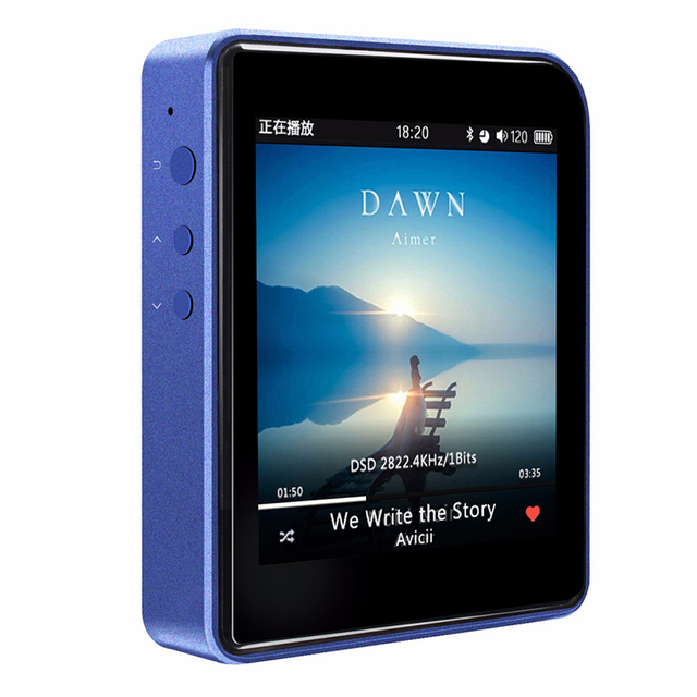 Shanling M1 Bluetooth DAP DSD HIFI Lossless Audio Reproductor de Música MP3 Mini Movimiento Reproductor de MP3 Portátil Reproductor de Música Negro/azul