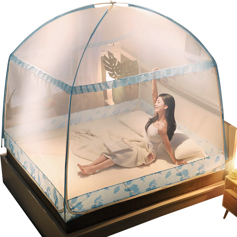Colourful Mosquito Net Three door Mosquito Curtain Insect Reject Mesh Home Decor Bedding Net Canopy Travel