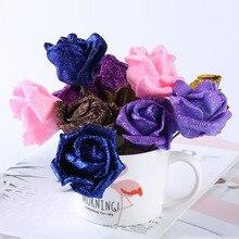 New 50pcs/lot Fashion PE Rose for Artificial DIY Flowers Bridal Bouquet Wedding Party Home Event DIY Back Drop Decoration цены