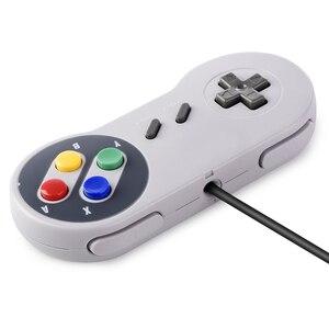 Image 2 - Controle usb para jogos snes, joystick clássico usb para raspberry pi, 2 peças
