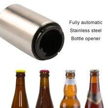 Best sale Stainless Steel Beer Bottle Opener Automatic Bottle Openers Beer Soda Cap Wine Bottle Opener kitchen accessories