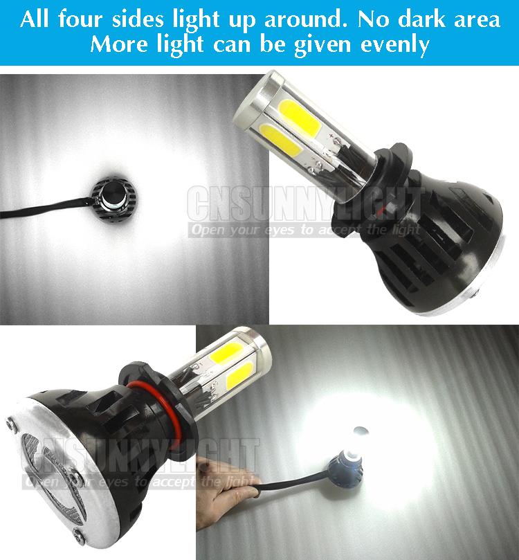 H4 H7 H13 H11 H1 9005 9006 COB LED Headlight 80W 8000LM Super Brigh Car LED Headlights Bulb Head Lamp Fog Light Pure White 6000K (22)