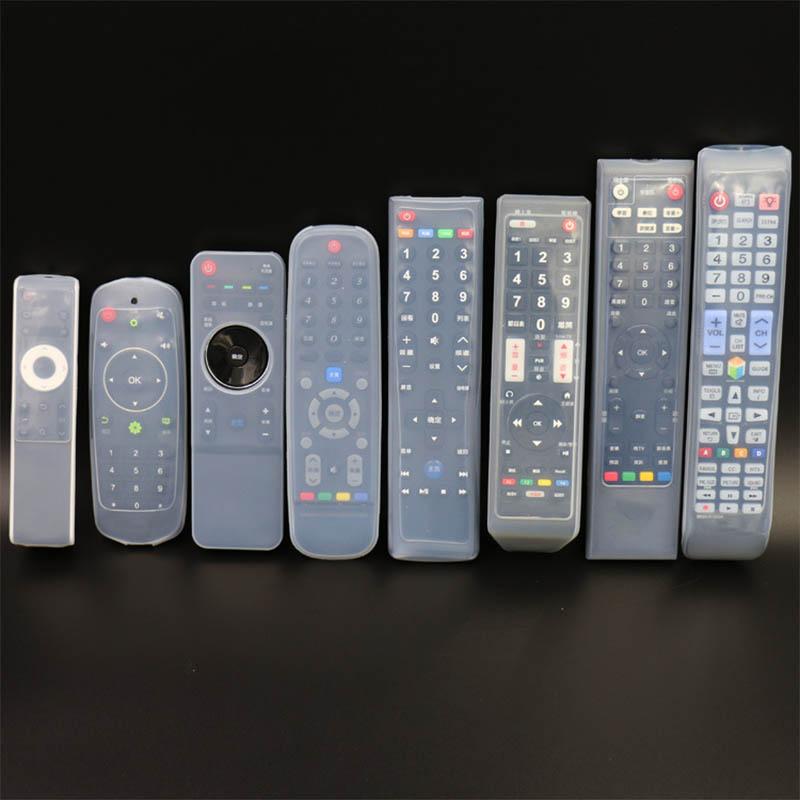 Clear 22 Size Dust Protect Protective Storage Bag Portable Silicone Air Condition Control Case TV Remote Control Cover