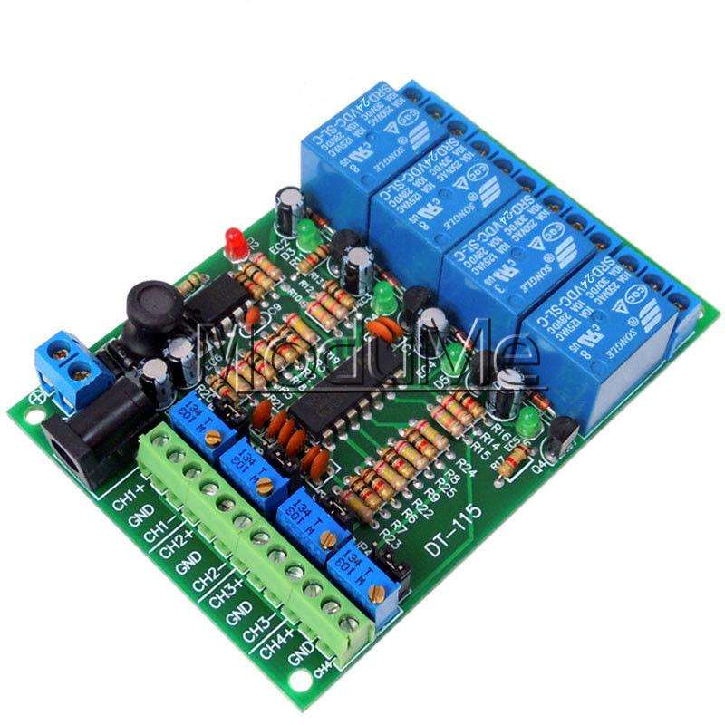 DC 12V 4 Channel Voltage Comparator Stable LM393 Comparator Module New