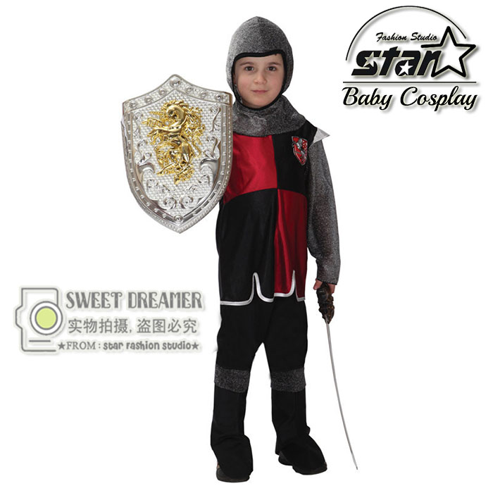 M~XL Roman Warrior Prince King Children Cosplay Halloween Party Costumes for Kids Boy Stage Performance Knight Soldier Suit halloween party pirate capain jack cosplay boy clothing halloween costume for kids children performance stage costumes