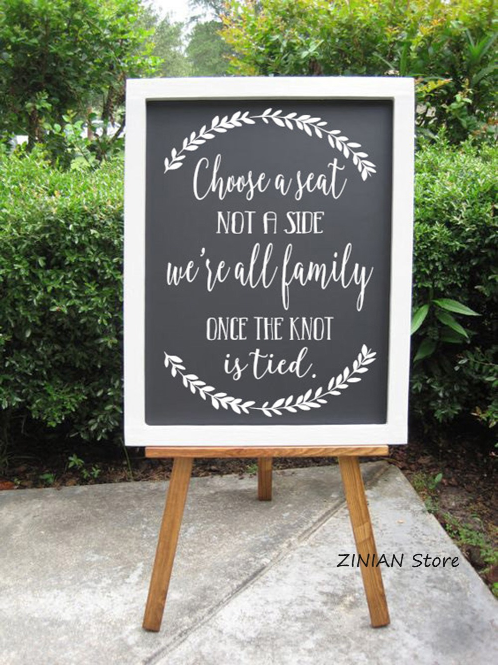 Choose A Seat Wooden Wall Stickers Rustic Wedding Decor