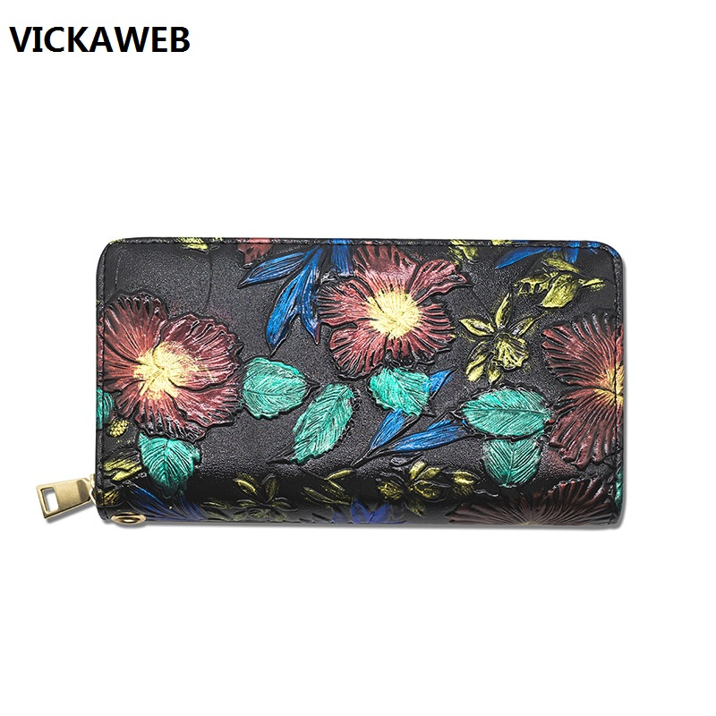 wallet women long pu leather purse luxury brand floral ladies wallets and purses large capacity female money bag luxury brand wallet women genuine leather purses long style ladies wallets crocodile pattern slim money bag