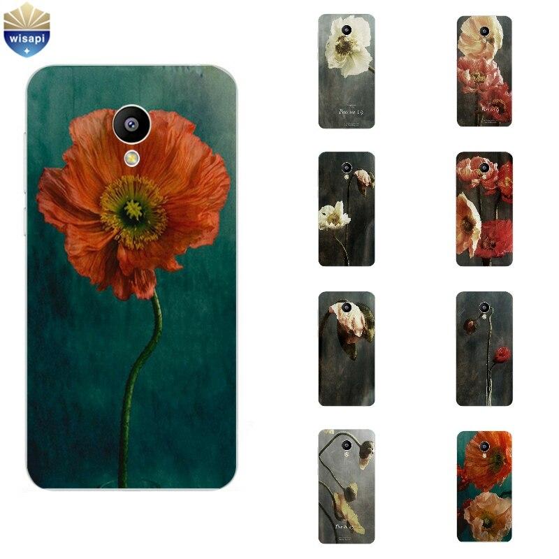 Телефон чехол для Meizu M1 M2 M3 Note m2 Mini M3 mini MX4 Pro MX5/Pro 5 6 красочные цветок Дизайн роспись Мягкие TPU крышка В виде ракушки