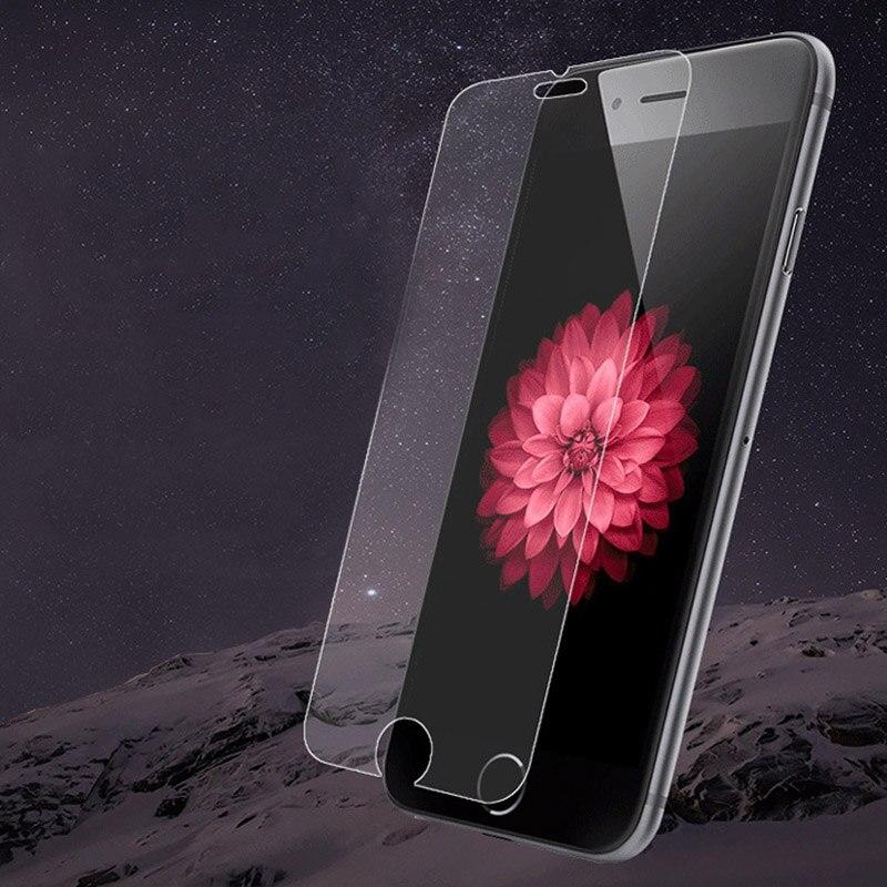 Цена за 50 шт.-0.3 мм 9 H Анти Shatter Закаленное Стекло Для Apple iPhone 5 5S SE 6 6 S 7 Плюс 5C Протектор Экрана Защитные Пленки Оптовая