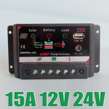 1pc x 15A 12V intelligence PV home system Charge Controller with DC 12VDC output 5V USB port