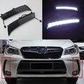 Новые!!! DRL Дневные Ходовые Огни для Subaru Forester 2013 2014 Затемнения тип Реле 9 Чипсы Автомобильные светодиодные Качество Asssured