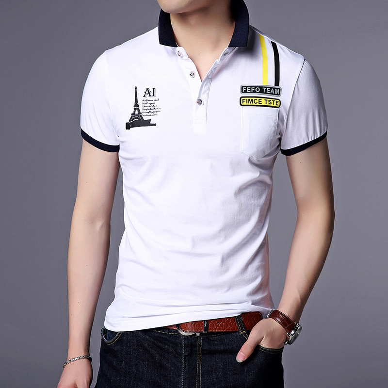 2017 Summer Cotton Breathable Men's Polo Shirt Volkswagen Classic Gent Short Sleeve Polo Men Fashion Slim Fit Collar Polo Youth
