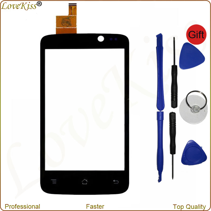 IQ447 Touch Screen For Fly IQ447 ERA Life 1 IQ 447 4 Front Touch Panel Sensor Digitizer LCD Outer Glass Lens Replacement Tools