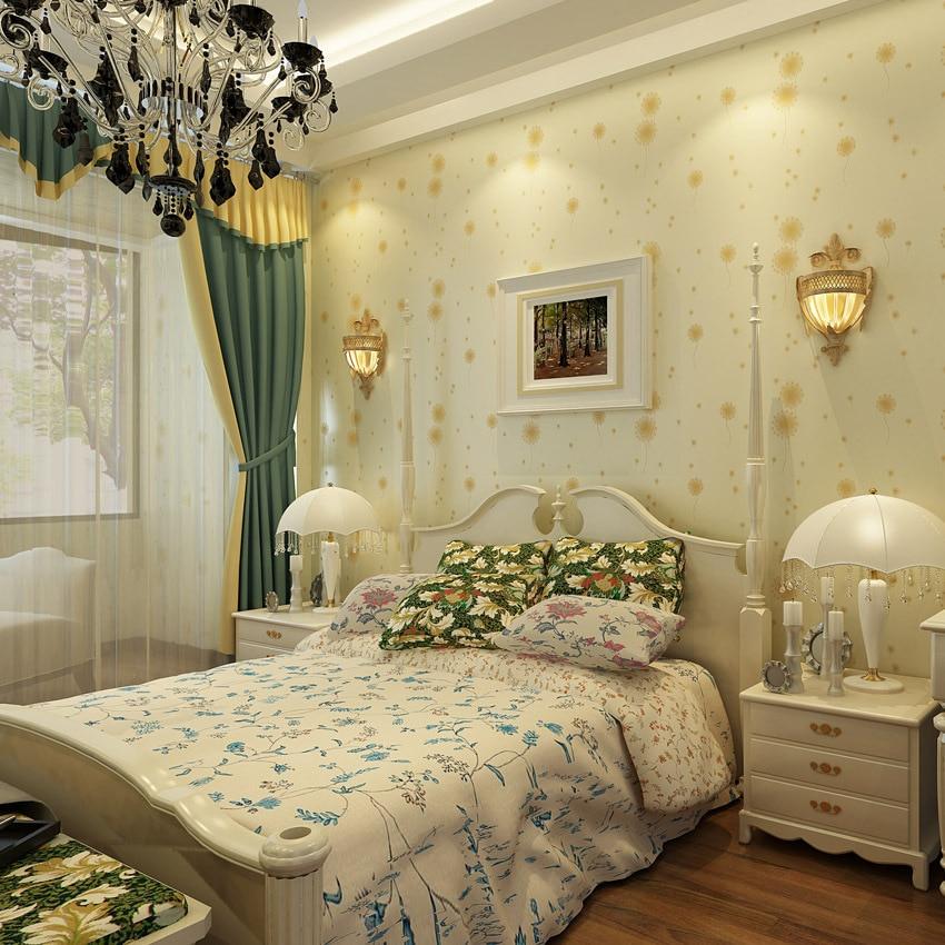 ФОТО beibehang Fashion Modern Non woven Wallpaper Warm Pastoral  3D Wallpaper Dandelion Bedroom Living Room TV Wall  papel de parede