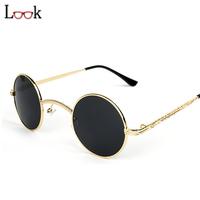 Rushed 2017 Gothic Vintage Steampunk Sunglasses Metal Round Sunglasses Women Men Brand Personality Steampunk Goggles Oculos