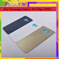 battery samsung galaxy 10Pcs/lot For Samsung Galaxy S6 Edge G925 G925F G925T Housing Battery Door Rear Back Glass Cover Case Chassis Shell Replacement (3)
