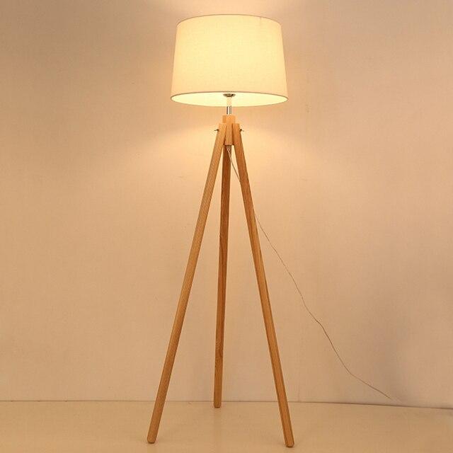 Fabulous Modernen Holz Stativ Stehende Lampe Einfaches Leben Stoffschirm  Kreative Licht Fr Wohnzimmer Studie Leuchte With Lampe Stoffschirm.