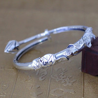 The character of silver jewelry wholesale silver S925 silver bracelet in women's personality cool.