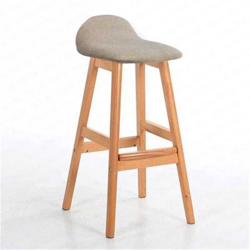 Modern Creative Bar Chair Solid Wooden Bar Chair Northern Wind