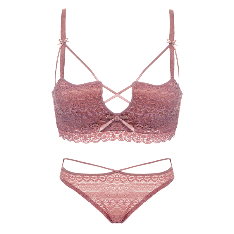 a688ae0d2bd Detail Feedback Questions about CINOON Super Sexy Lace Underwear Wire Free  Comfortable Japanese Bra Set Deep V Square Cup Lingerie Embroidery Underwear  Set ...