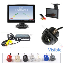 Parking Kit 800*480 HD 5 Inch Car Backup Monitor Display Image + CCD Rear View Camera + Car Parking Sensor 4 Radar Parktronic